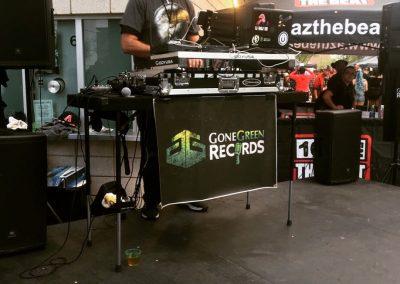 DJ Eagle One & Gone Green Records Stage AZ Hip Hop Festival Event Live Performances Music Speaker Bass Subs Dance Music Sedona Arizona