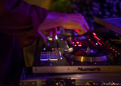 DJ hands at work