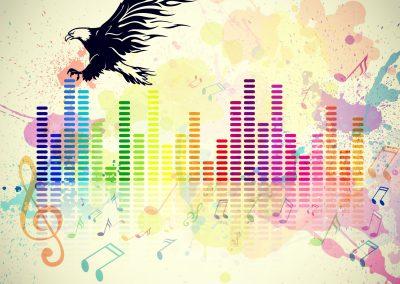 Color Splash of Music Creativity