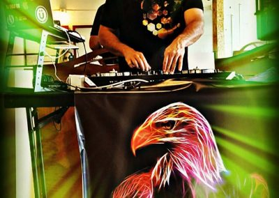 DJ Eagle One Sedona Arizona Music Sound Sound and Lighting dj eagle one mixing picture with gone green records DJ Eagle One Sedona Arizona Dance Party Eagles Nest Event
