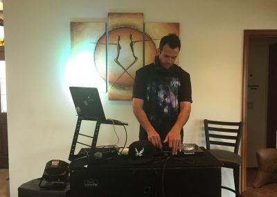 Mixing it up at a Private Party in Sedona Arizona Sound and Lights